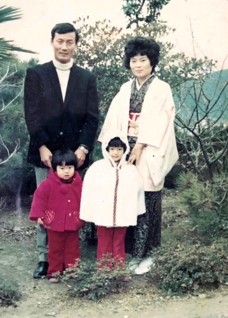 多田千香子の子ども時代、昭和の家族写真