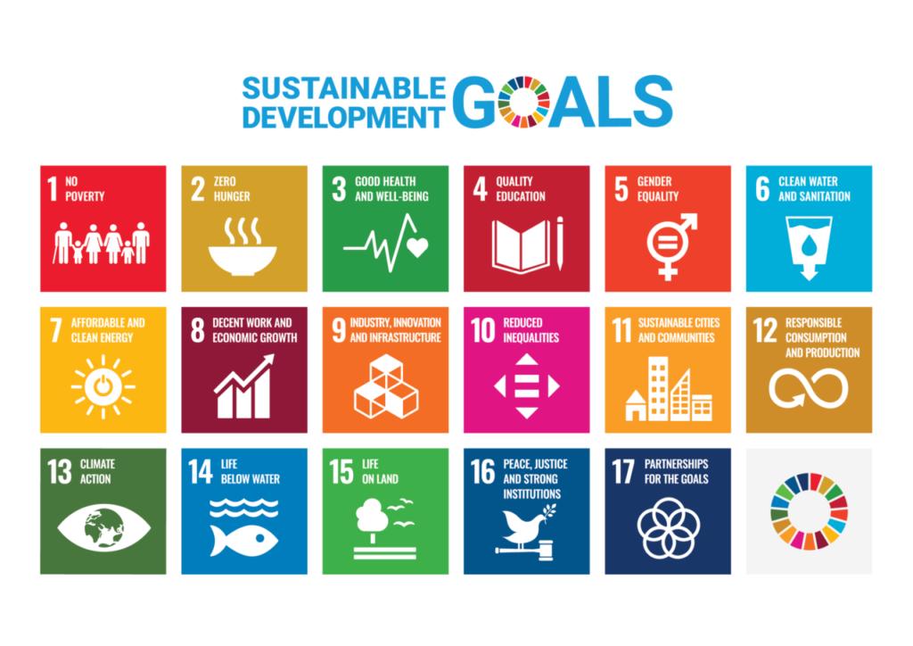 SDGsの17のエンブレム