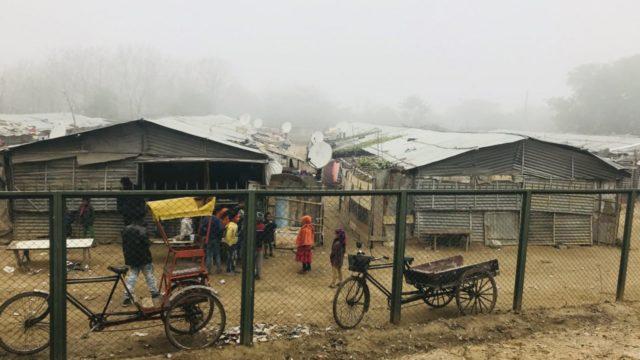 インド・グルガオンのスラム街