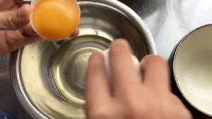 卵黄と分ける