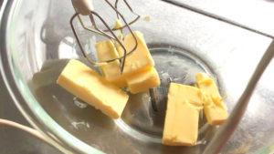 バターを混ぜる